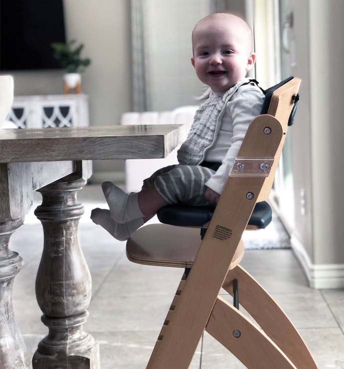 Beyond Wooden High Chair with Tray. The Perfect Adjustable Baby Highchair Solution for Your Babies and Toddlers or as a Dining Chair