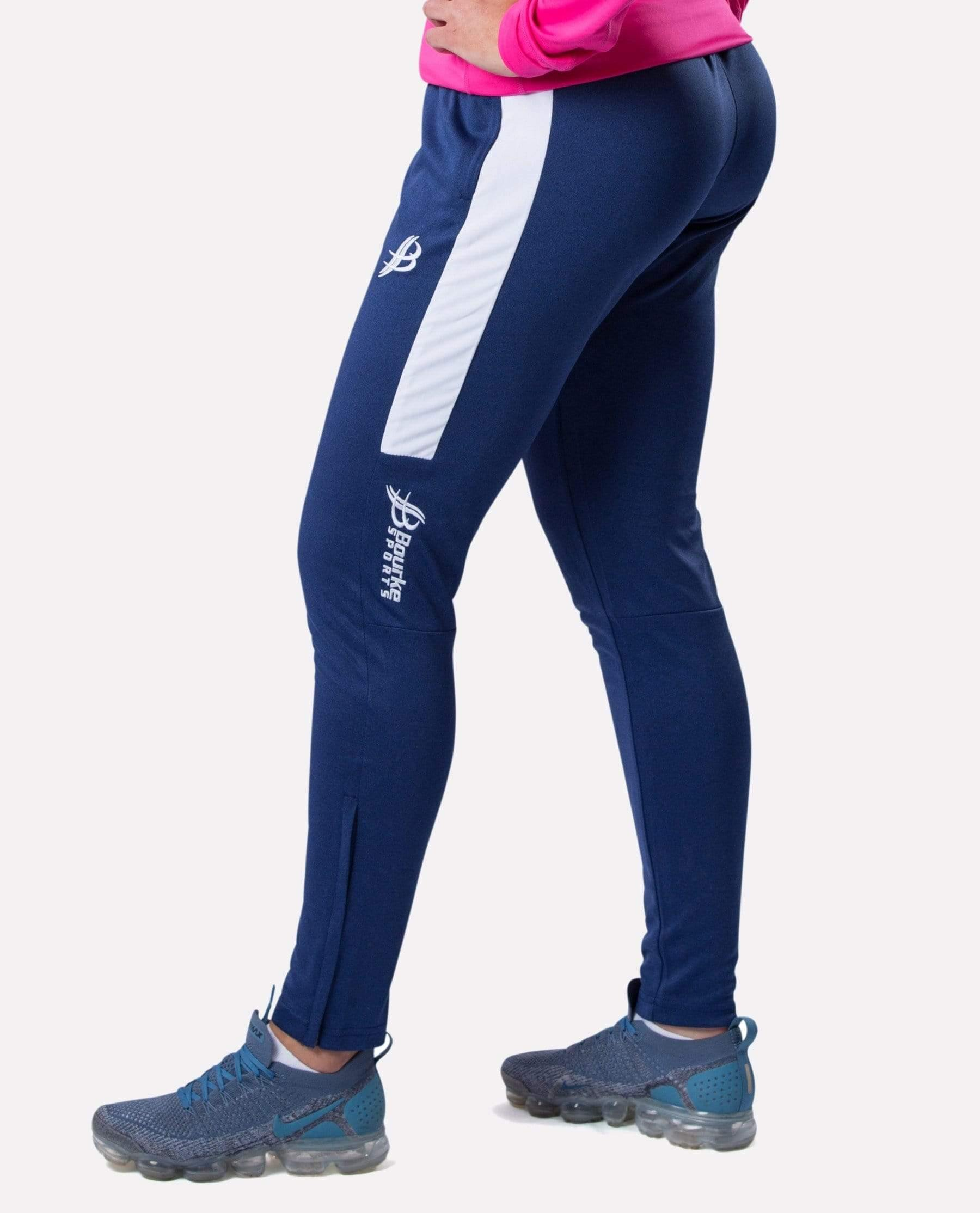 ALPHA Adult Skinny Pants (Navy/White) - Bourke Sports Limited
