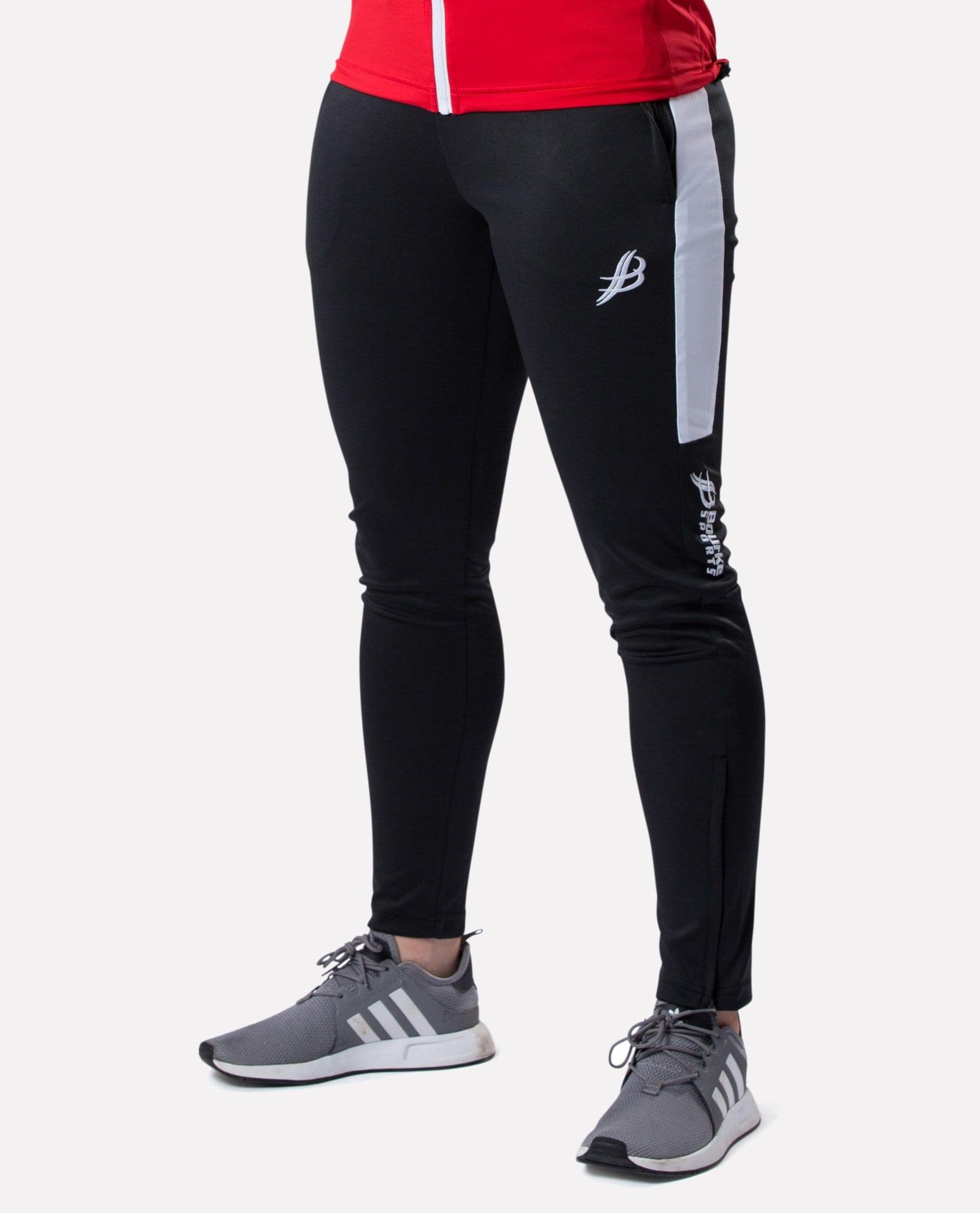 ALPHA Adult Skinny Pants (Black/White) - Bourke Sports Limited