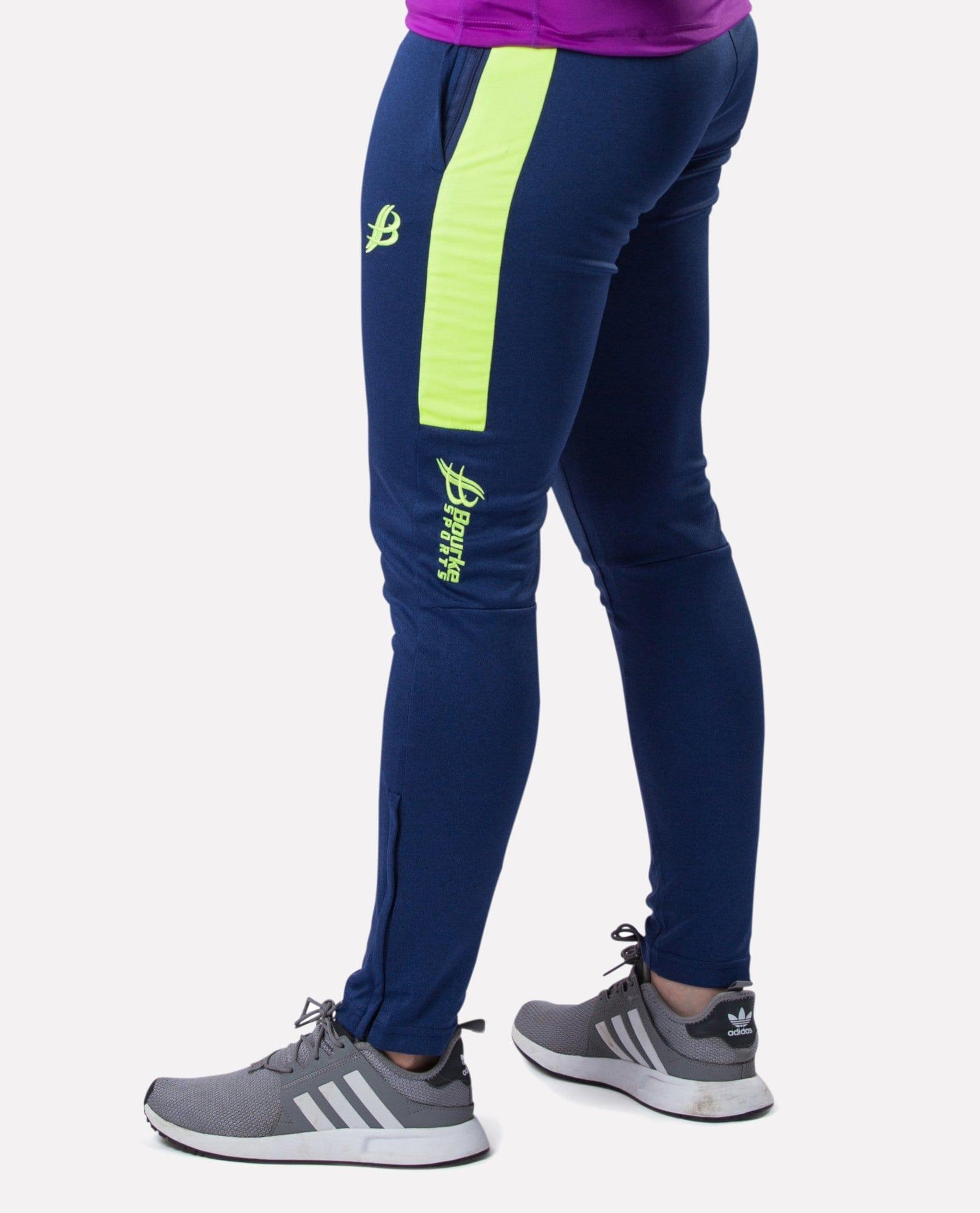 ALPHA Adult Skinny Pants (Navy/Luminous) - Bourke Sports Limited