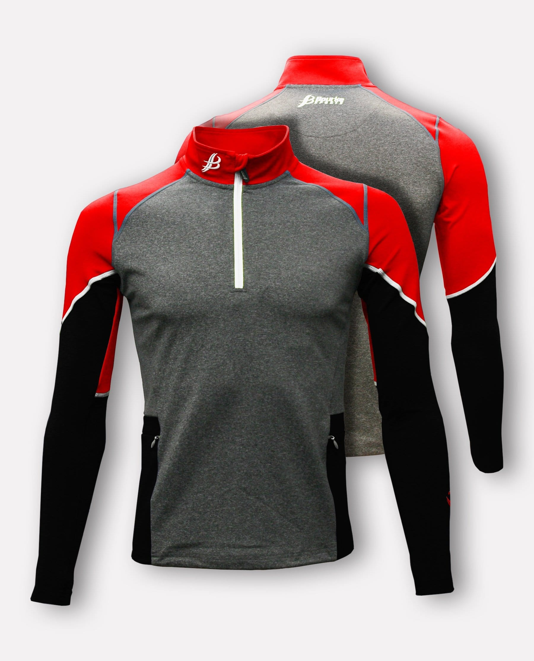 ULTRA Adult Half Zip (Grey/Black/Red/White)