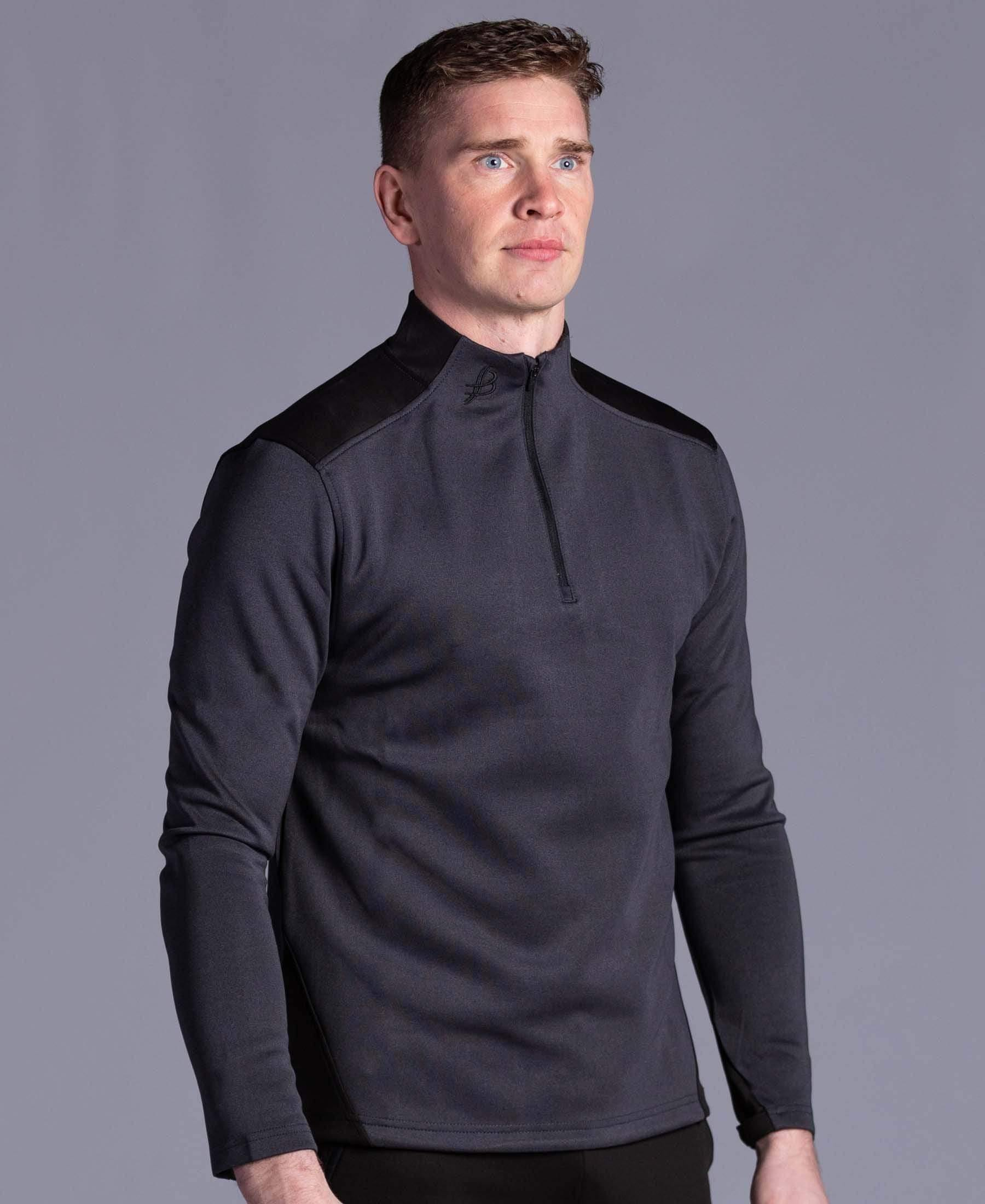BUA20 Adult Half Zip (Black) - Bourke Sports Limited