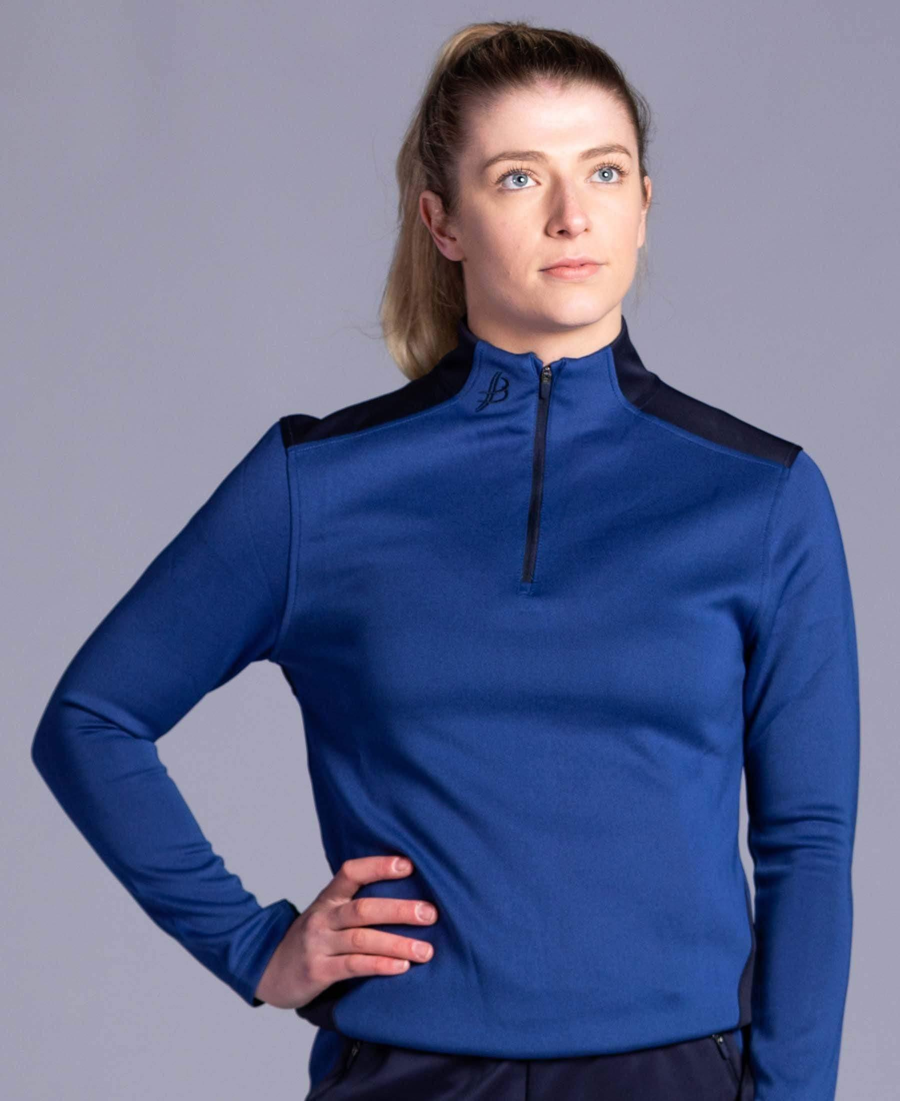 BUA20 Adult Half Zip (Navy) - Bourke Sports Limited