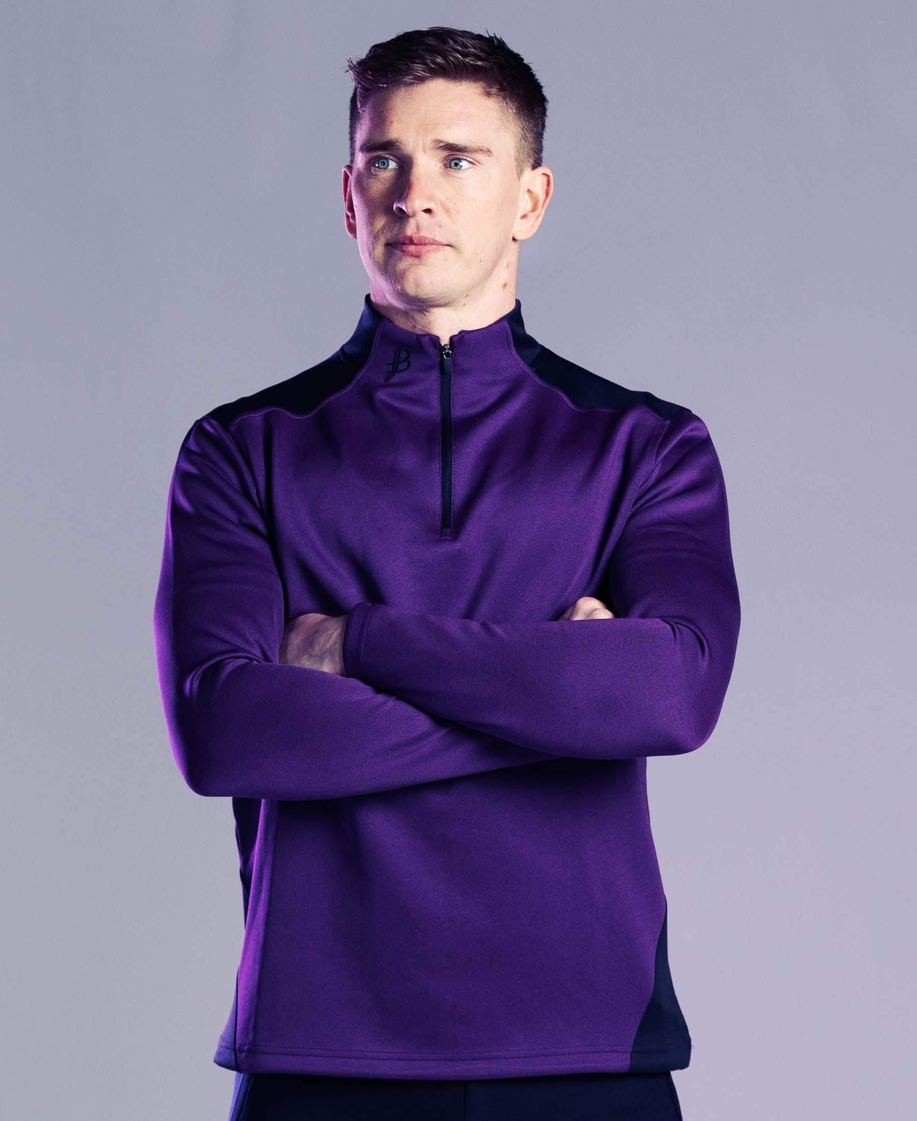 BUA20 Adult Half Zip (Purple) - Bourke Sports Limited