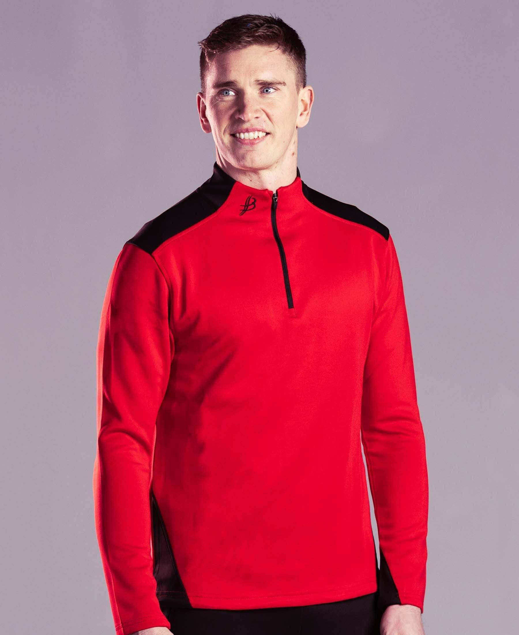 BUA20 Adult Half Zip (Red) - Bourke Sports Limited