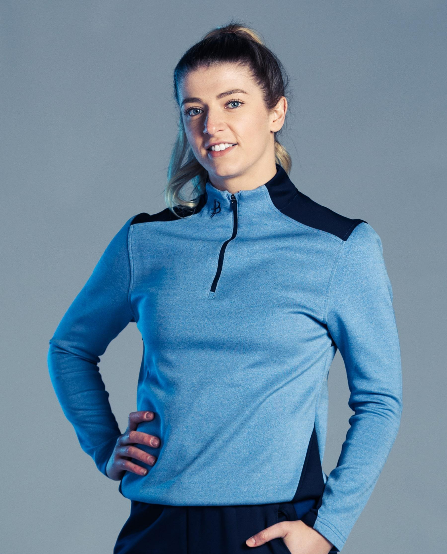 BUA20 Adult Half Zip (Sky Blue) - Bourke Sports Limited