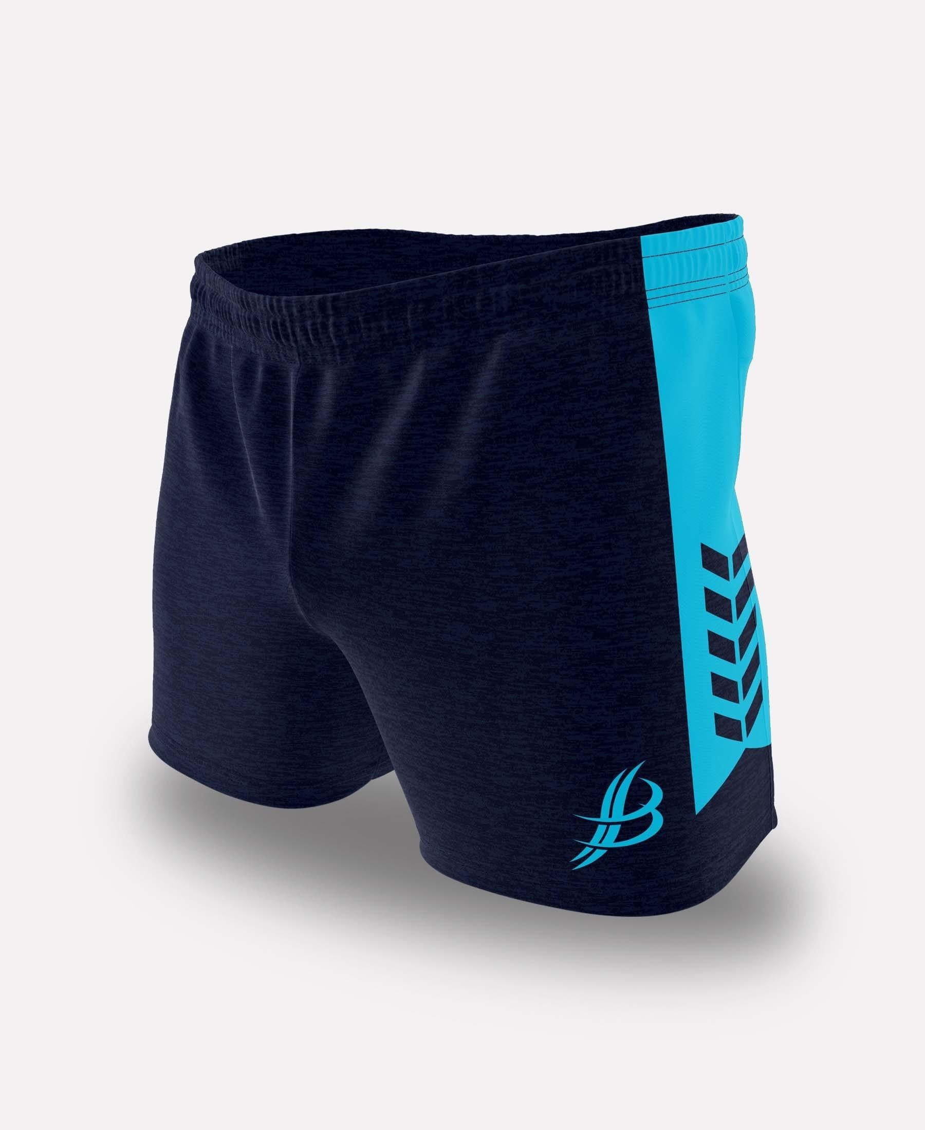 BUA20 Shorts (Navy/Cyan) - Bourke Sports Limited