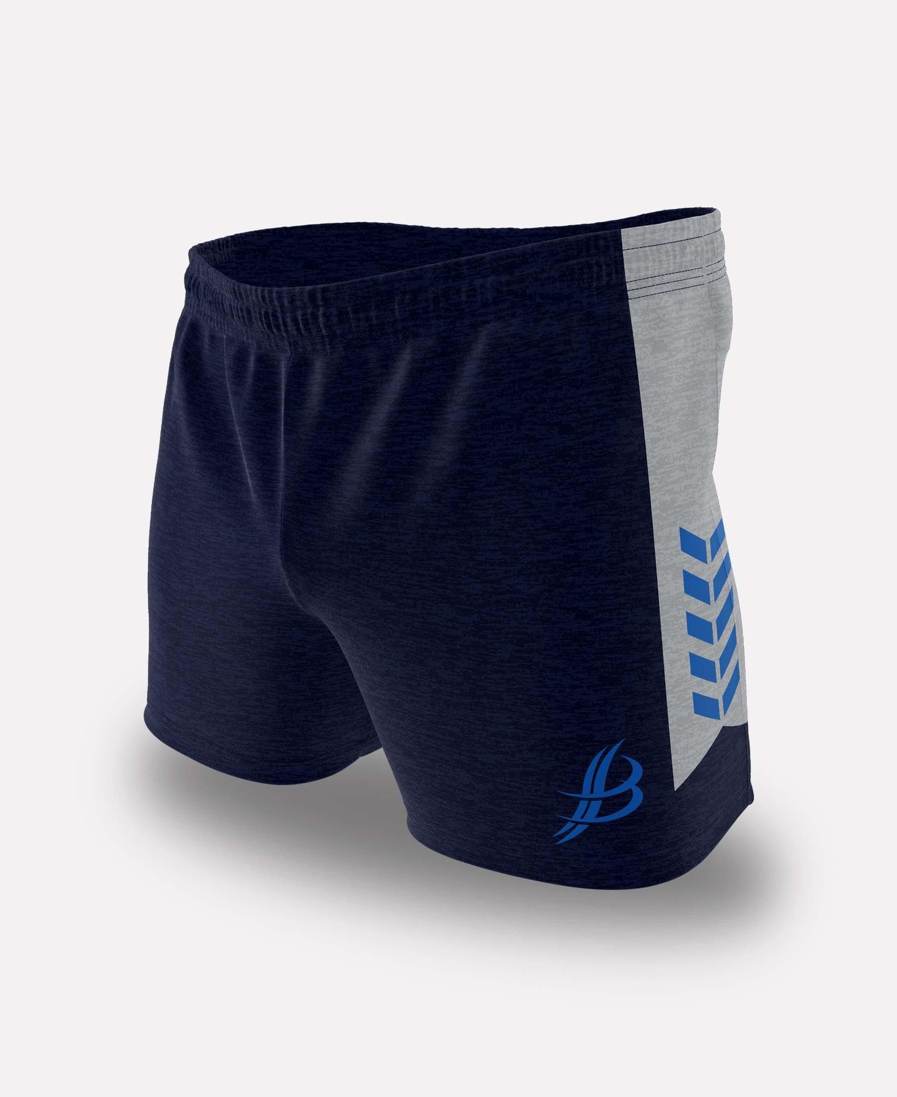 BUA20 Shorts (Navy/Grey/Royal) - Bourke Sports Limited