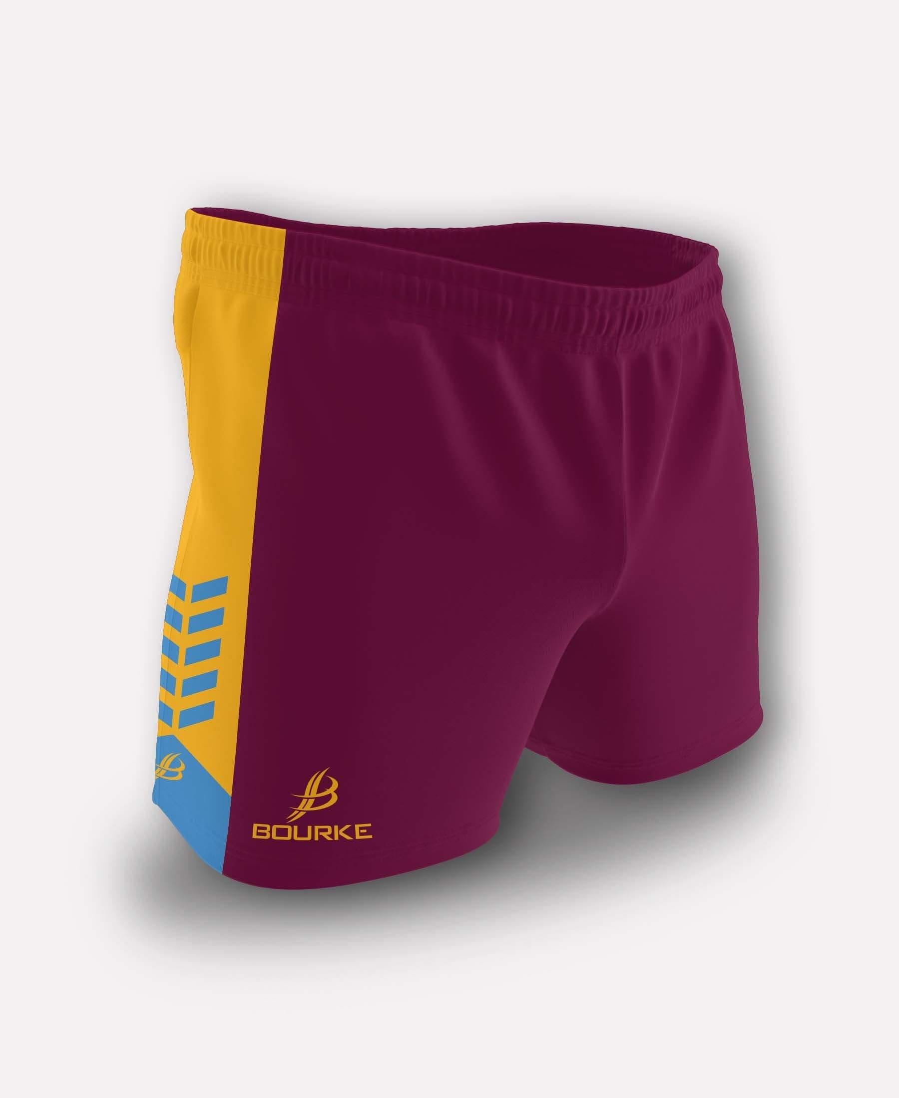 Chevron Adult Shorts (Maroon/Sky/Amber)