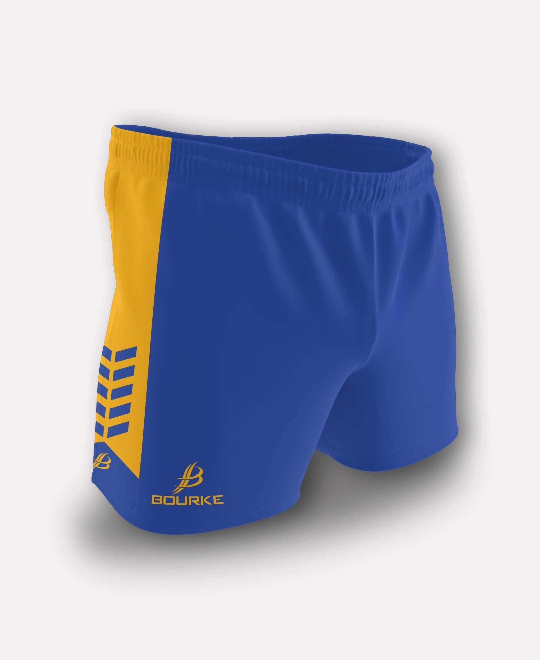 Chevron Kids Shorts (Royal/Amber)