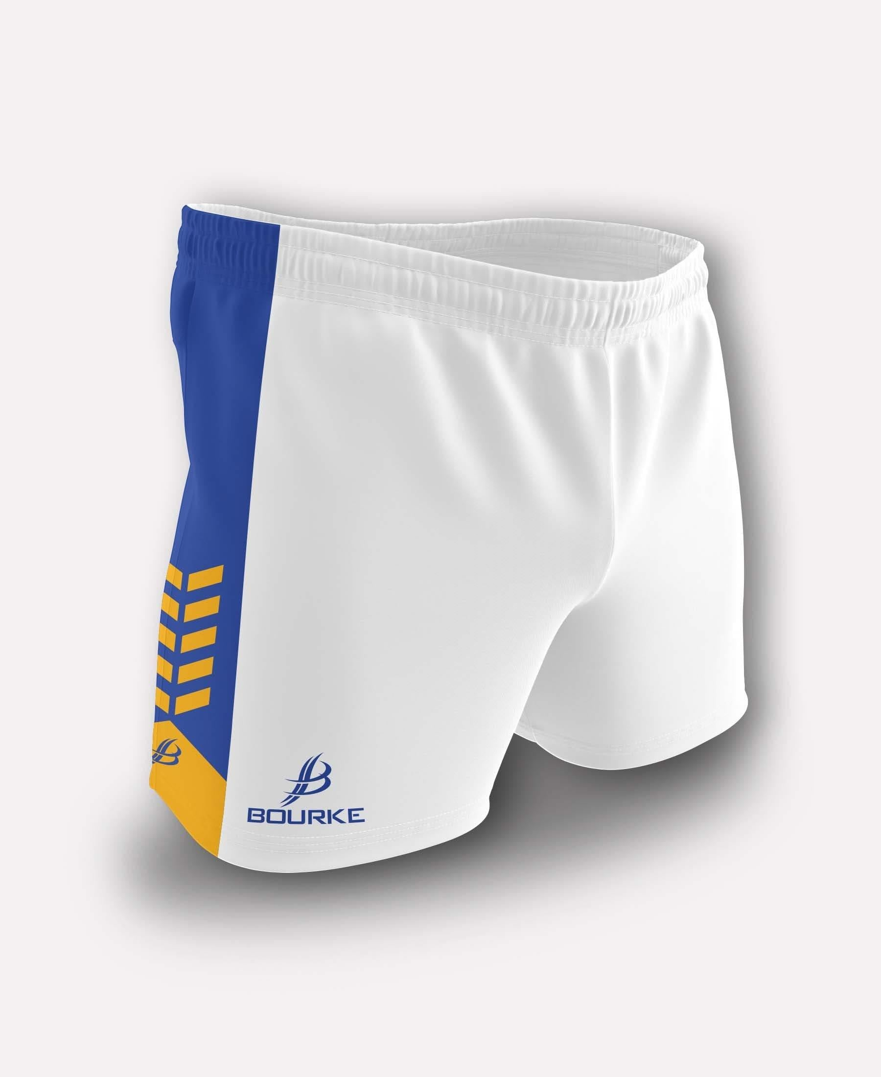 Chevron Adult Shorts (White/Royal/Amber)