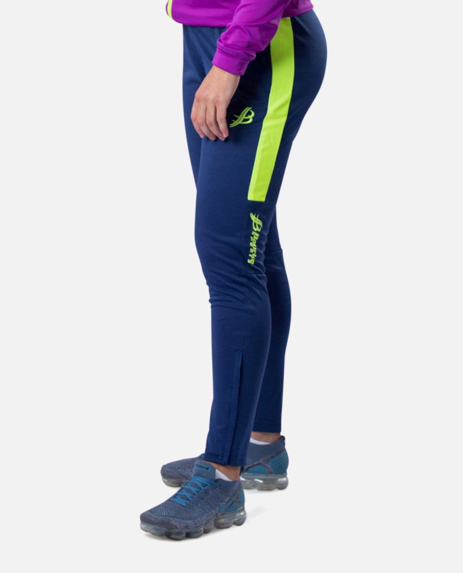 ALPHA Kids Skinny Pants (Navy/Luminous) - Bourke Sports Limited