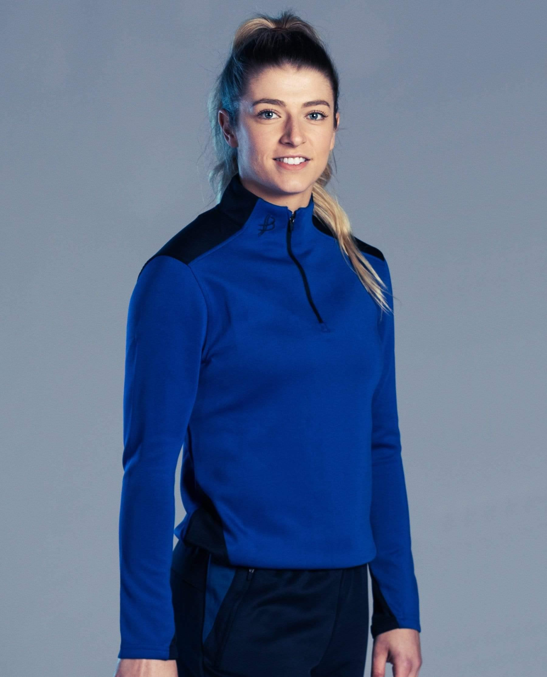 BUA20 Adult Half Zip (Blue) - Bourke Sports Limited