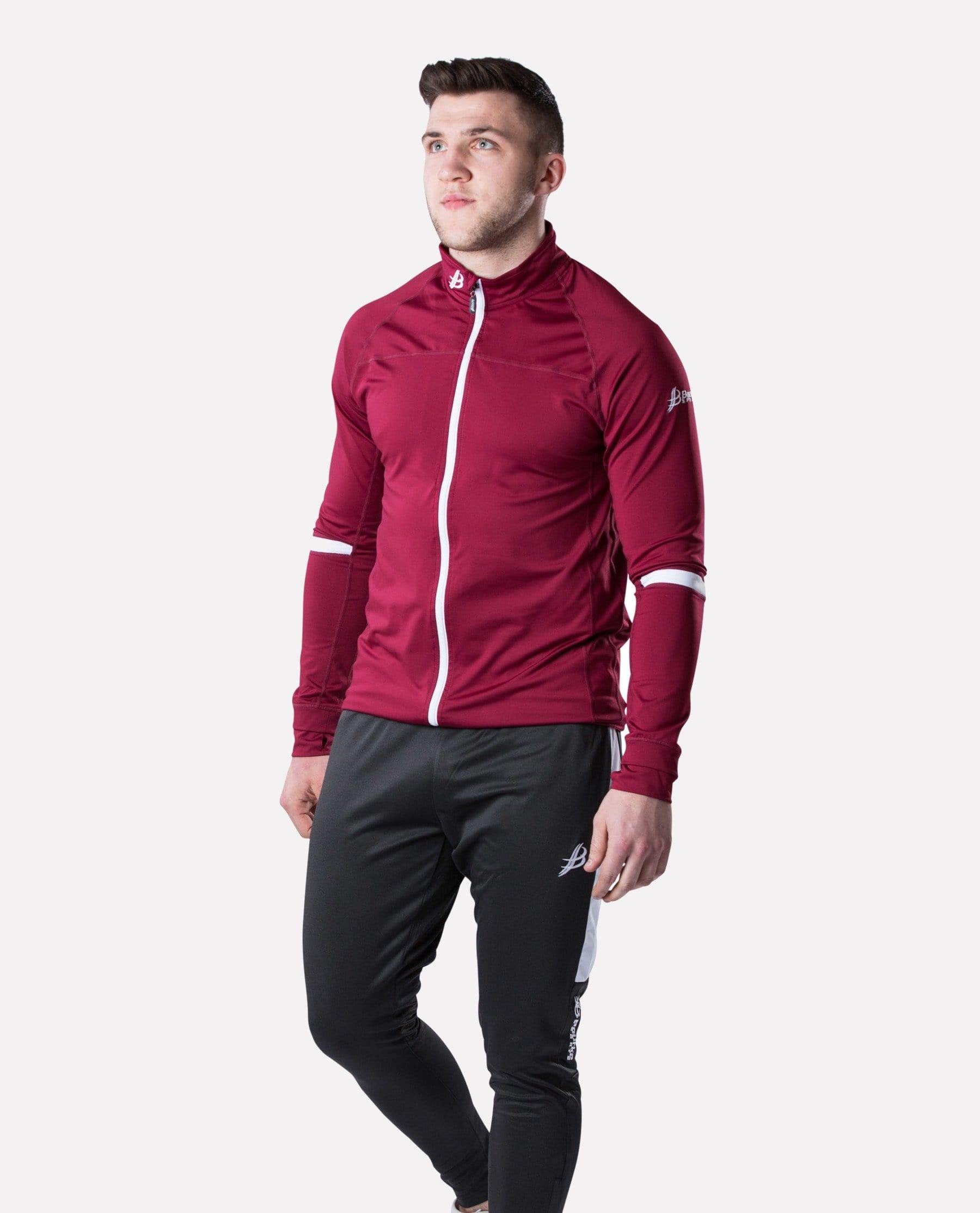 ALPHA Adult Full Zip (Maroon/White) - Bourke Sports Limited
