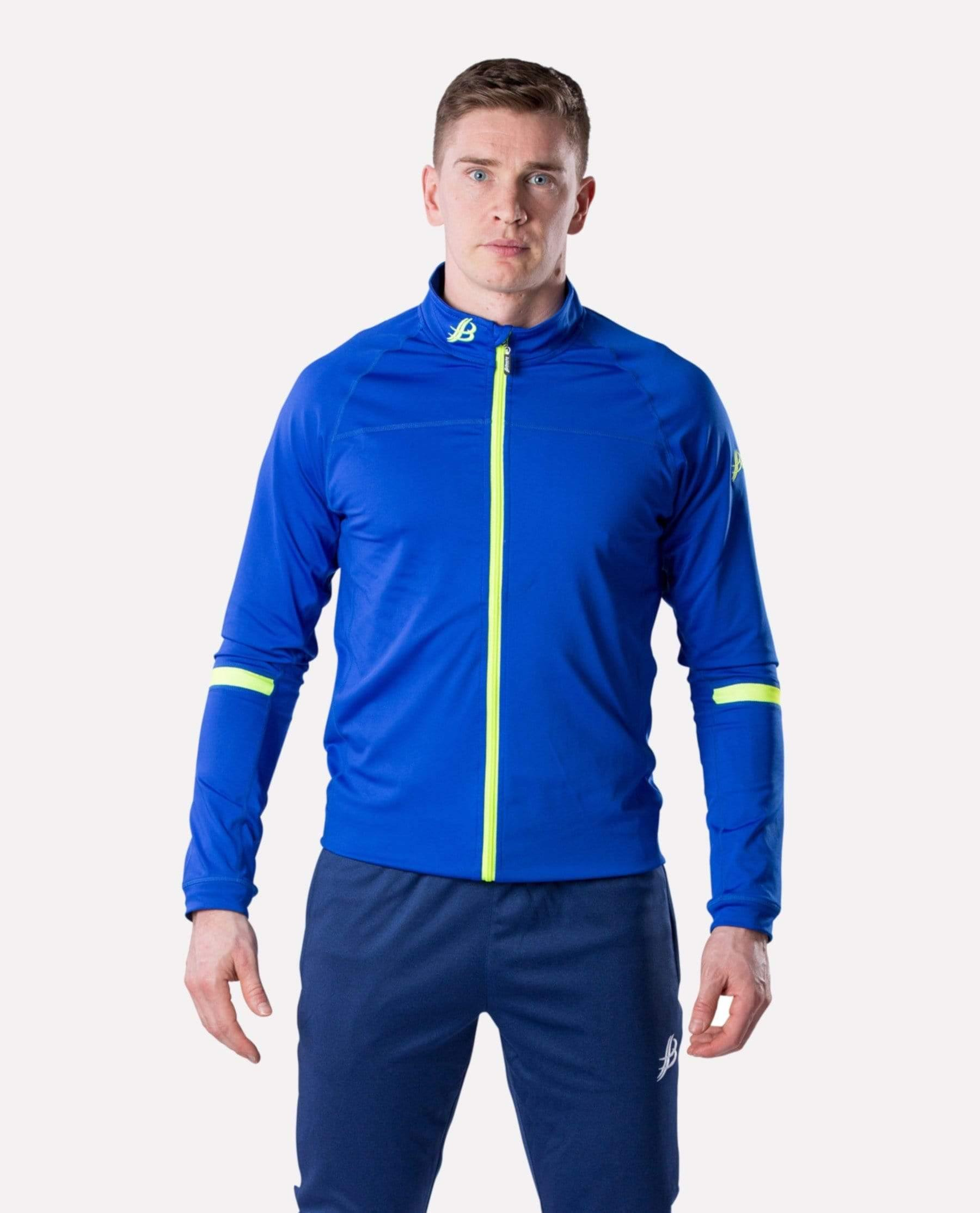 ALPHA Adult Full Zip (Blue/Luminous) - Bourke Sports Limited