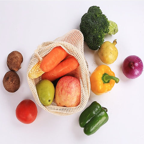Cotton Mesh Fruit & Veg bags