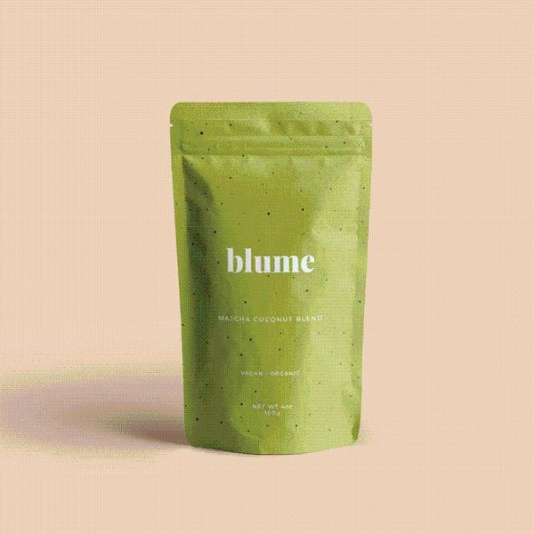 Blume - Matcha Coconut Blend Perk up and stay steady with stone ground, hand picked matcha. Organically grown and sourced from the Nishio region of Japan, this blend is what you need for energy.