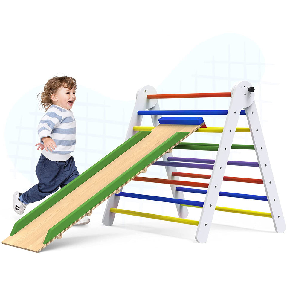 Pikler Triangle Climber with Ramp