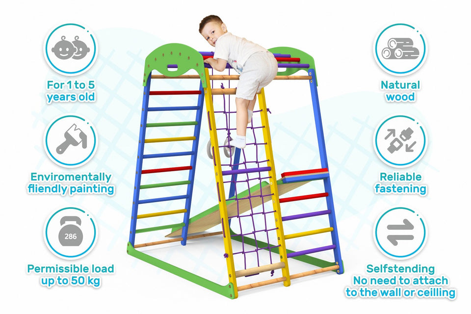 Indoor Playground Toddler Climber Slide SPORTWOOD