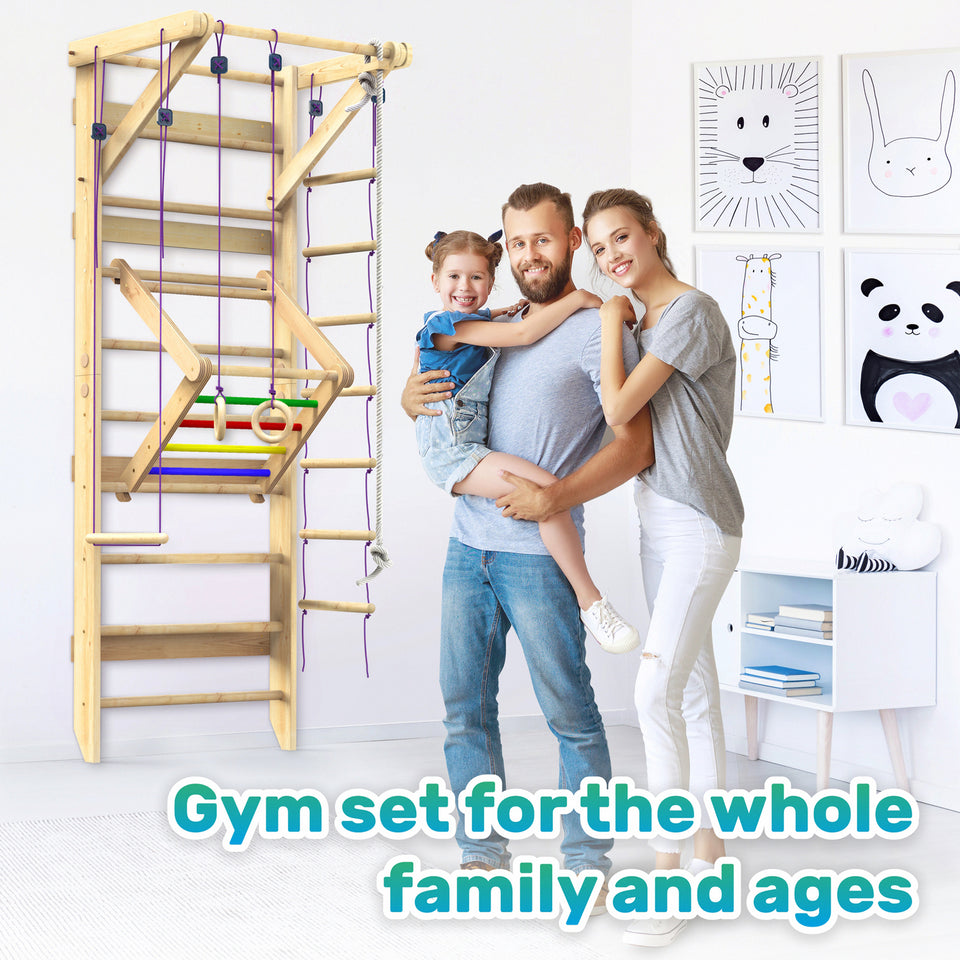 Wooden Swedish Ladder Wall Set Sport-4