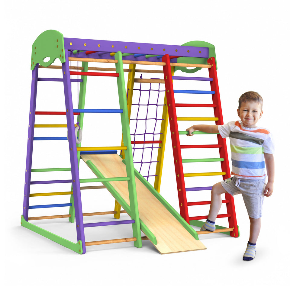 Indoor Playground Toddler Climber Slide AKVARELKA MINI