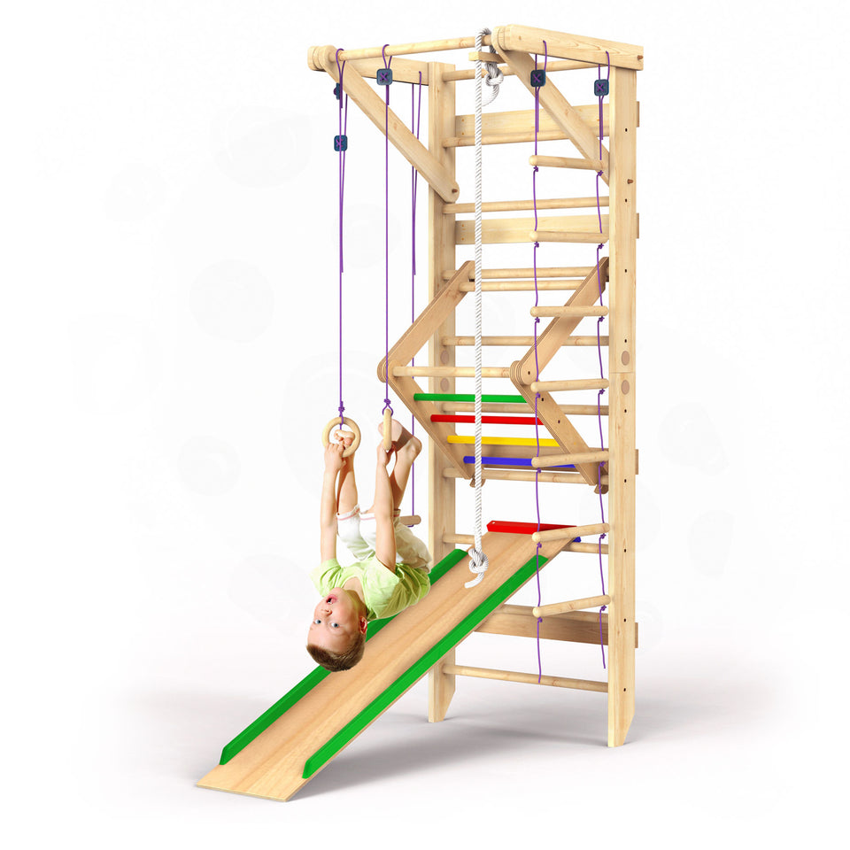 Wooden Swedish Ladder Wall Set Sport-3
