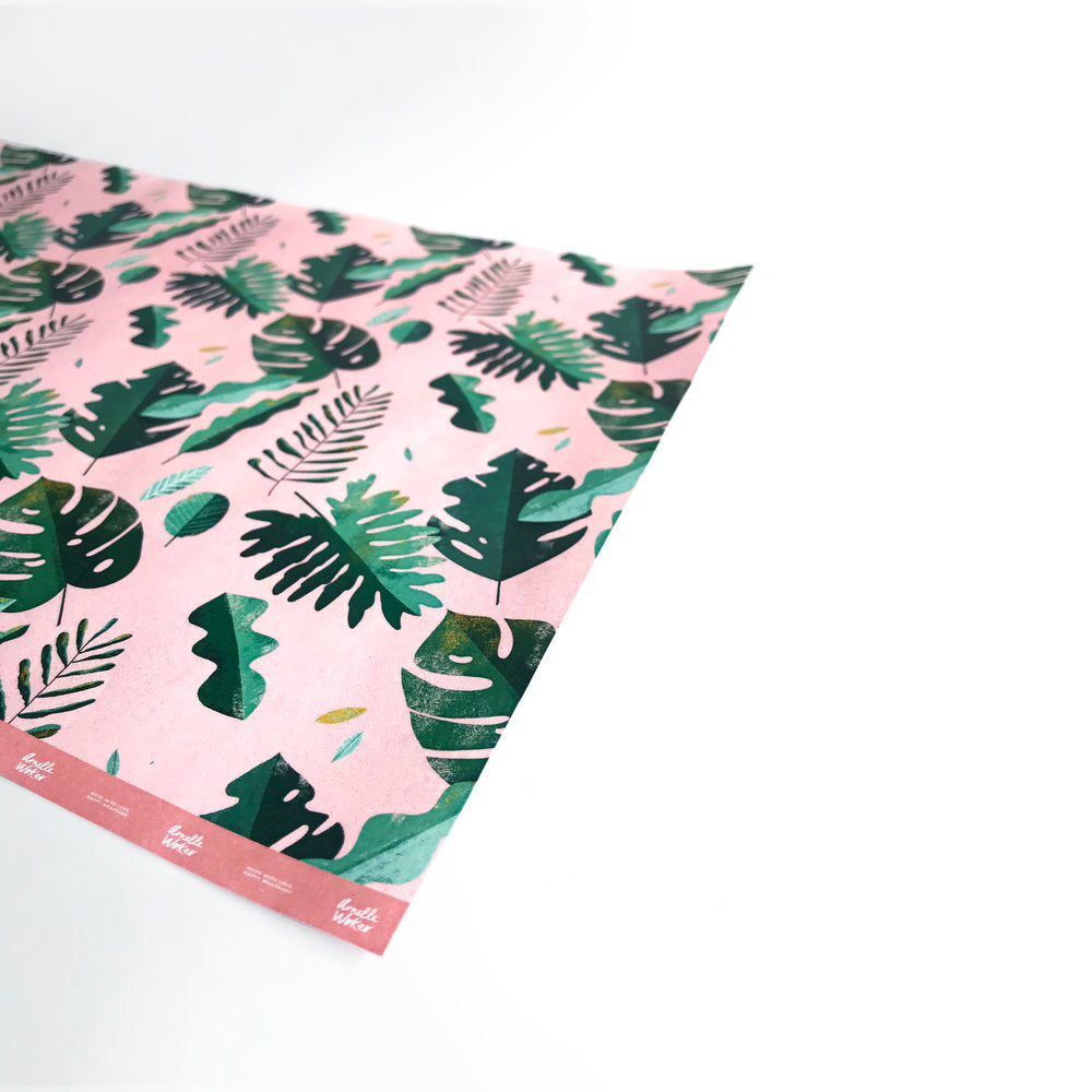 Pink Monstera Wrapping Paper