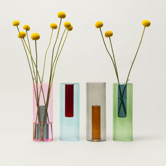 Reversible Glass Vase - Large Mixed Colour