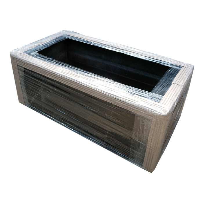 Black Fiberglass Planter Pot