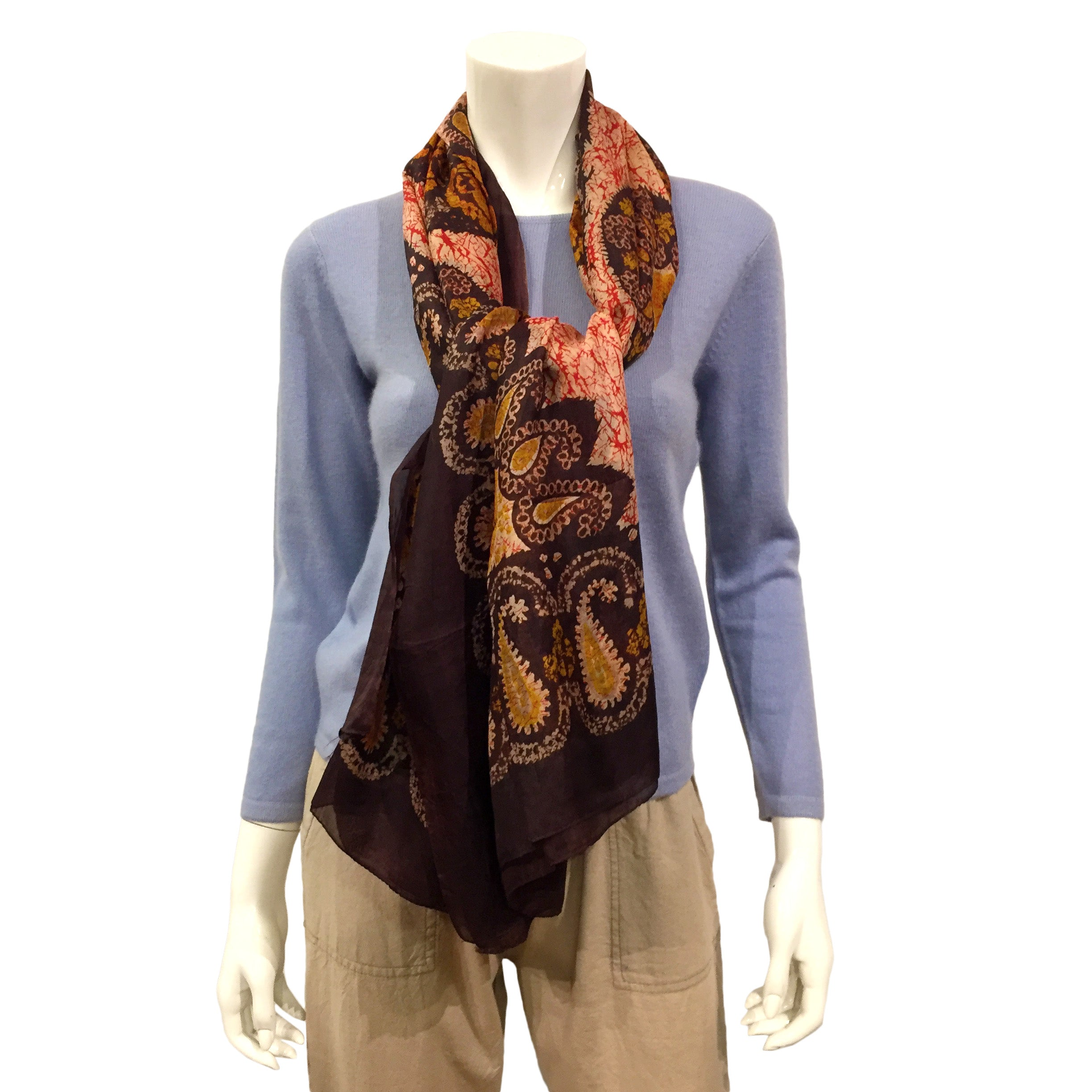 Silk Scarf with pattern