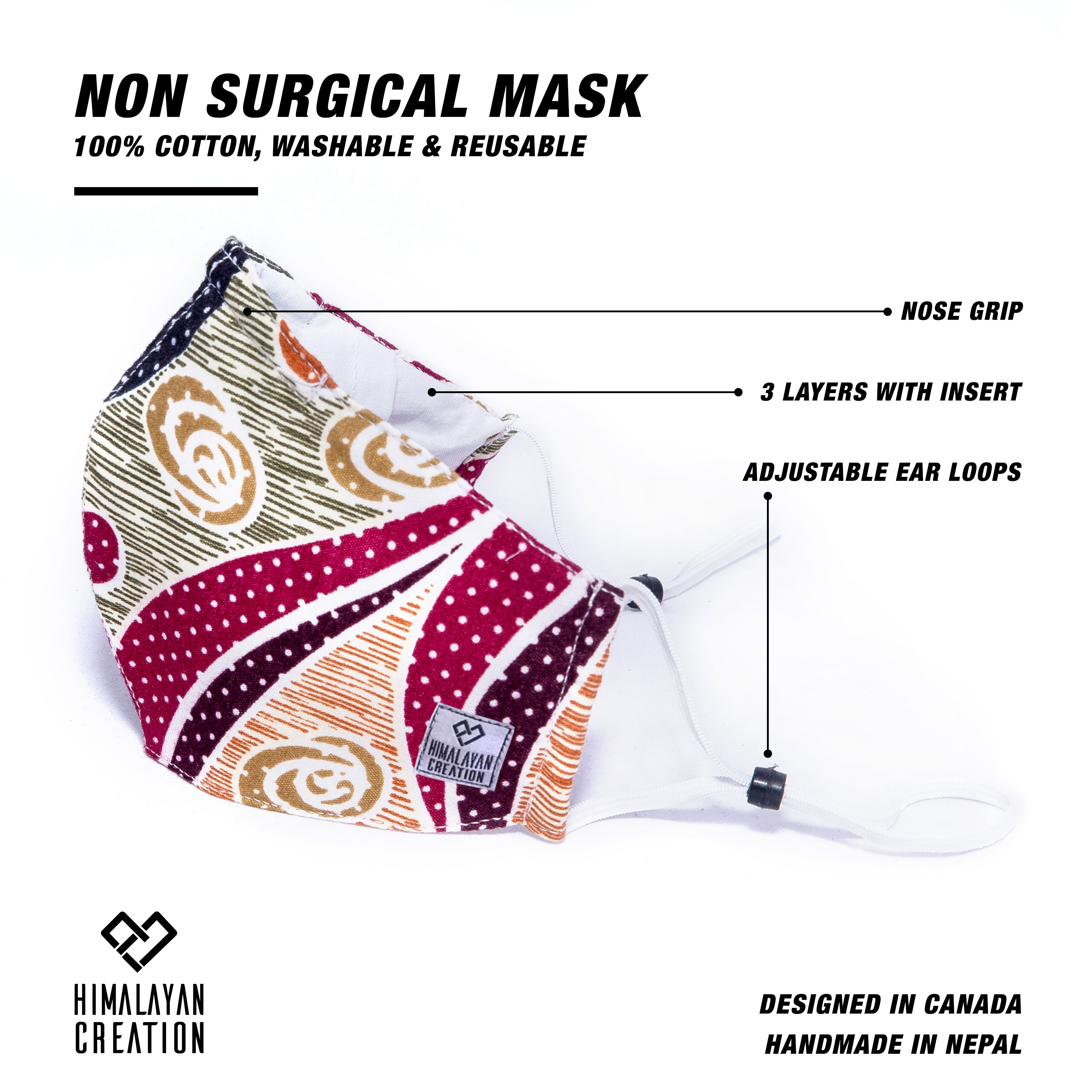 Floral Pattern Cotton Mask