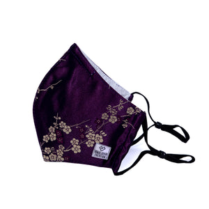 Floral Pattern Cotton+Silk Mask