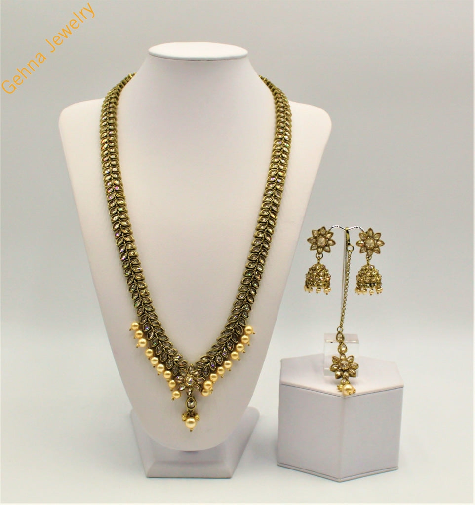 Aniha Long Haar Necklace Set