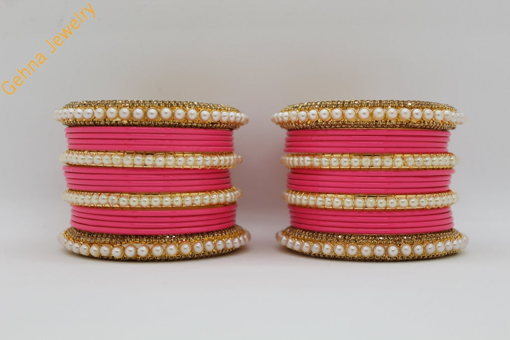 Parul Pink Bangle Set