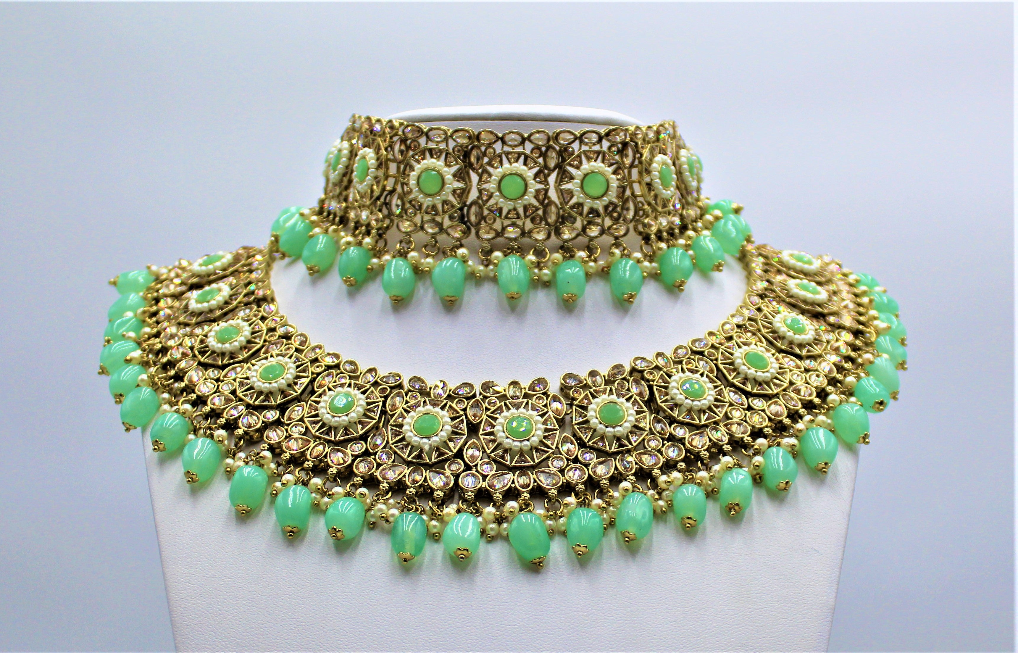 Seerat (Mint Green) Bridal Set