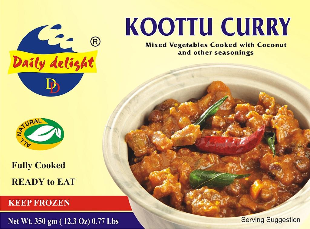 Koottu Curry Mixed Vegetables Cooked with Coconut and Other Seasonings