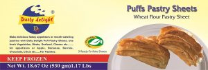 Puff Pastry Sheet Wheat Flour Pastry Sheets