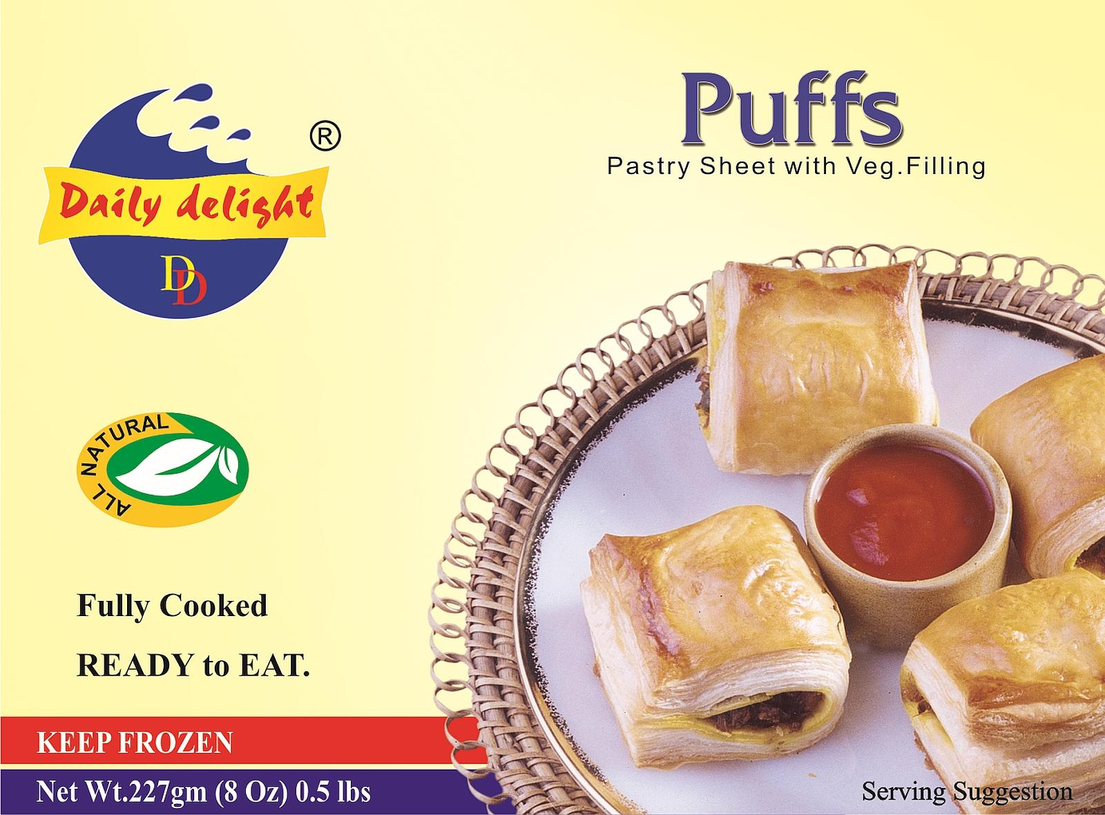 Daily Delight Vegetable Puffs (Frozen Snack)