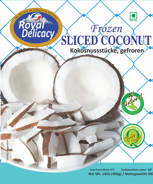 Royal Delicacy Sliced Coconut (Frozen Vegetable - 400 g)