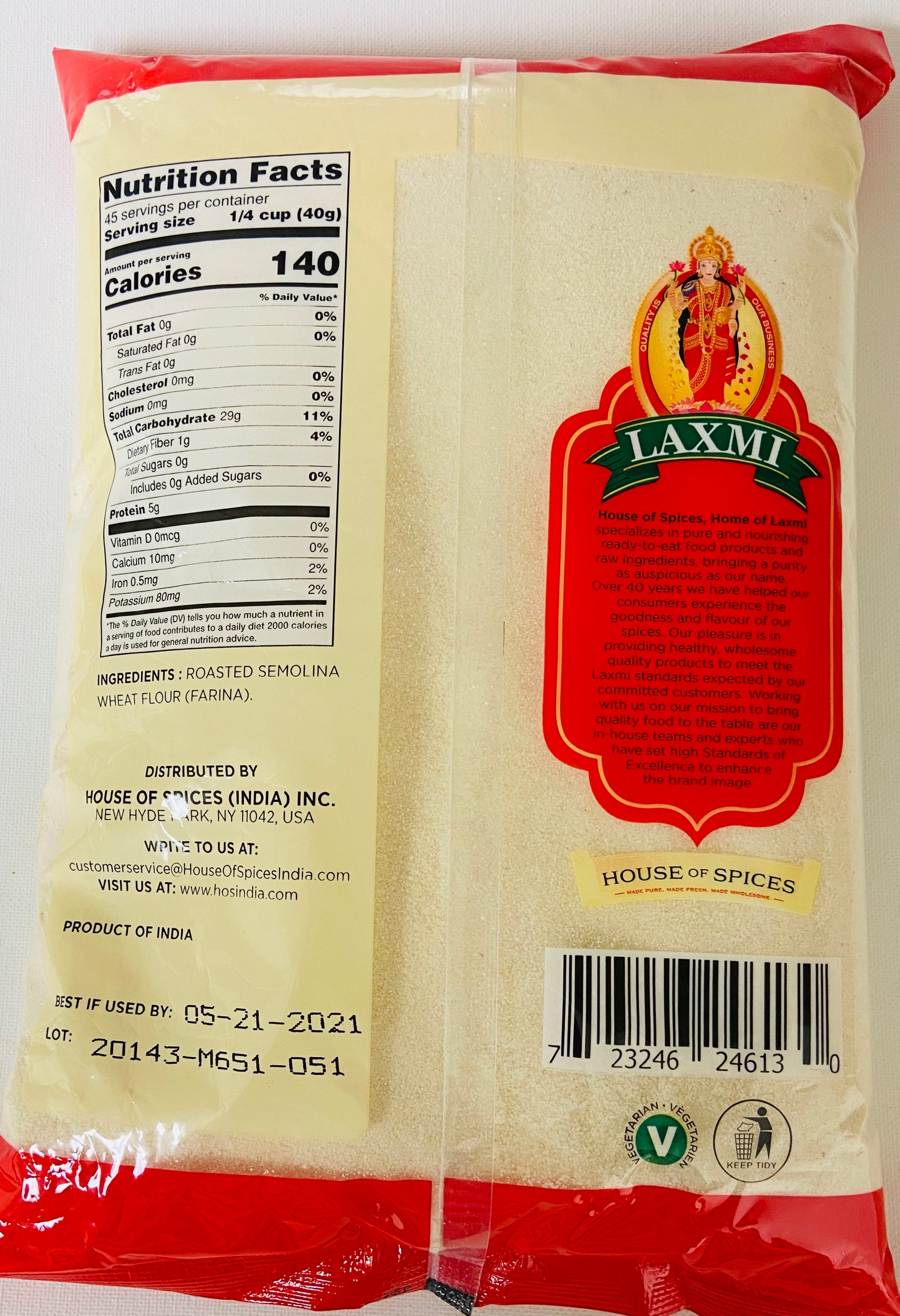 Laxmi Sooji Roasted (4 lb)