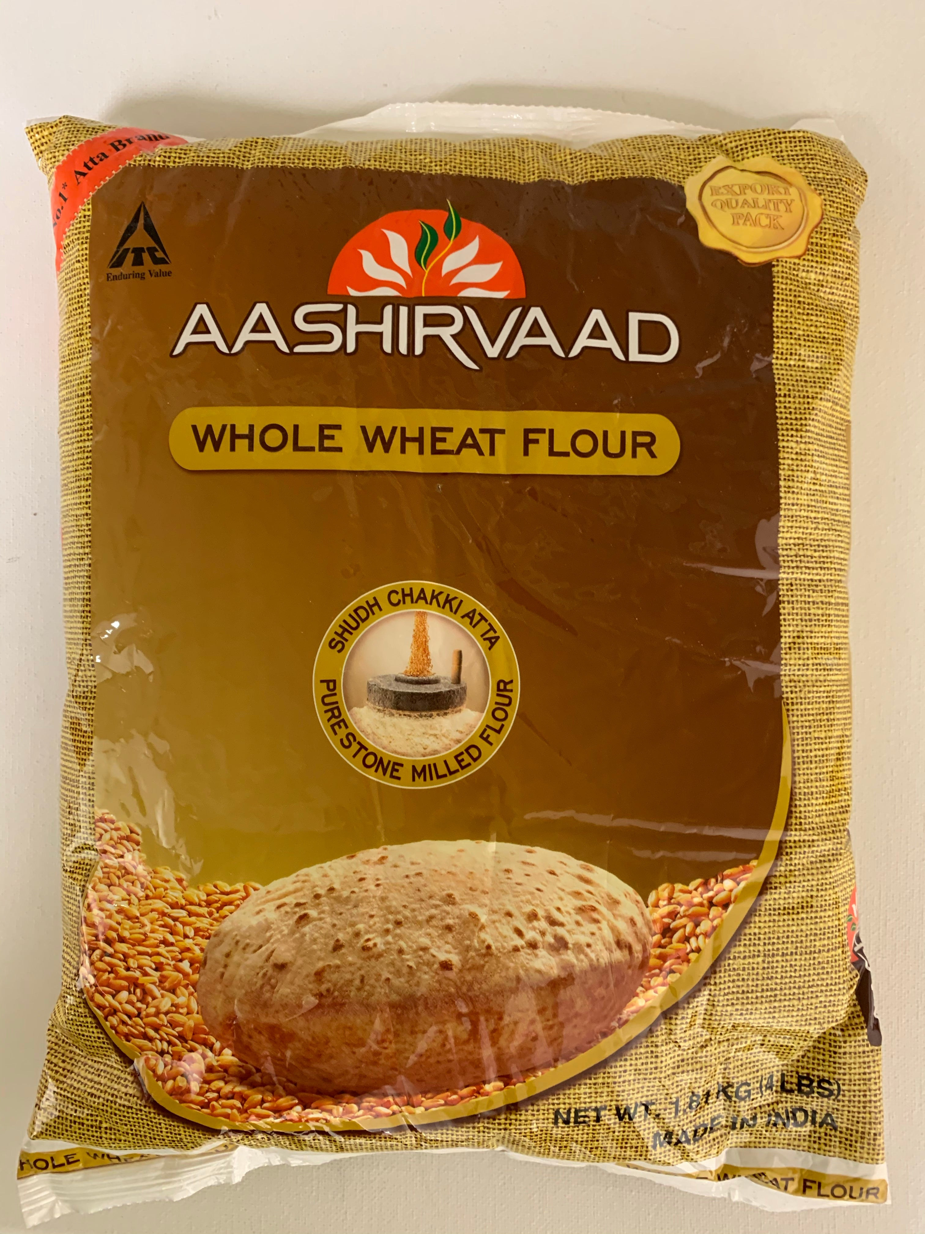 Aashirvaad Whole Wheat Flour / Atta (4 lb)