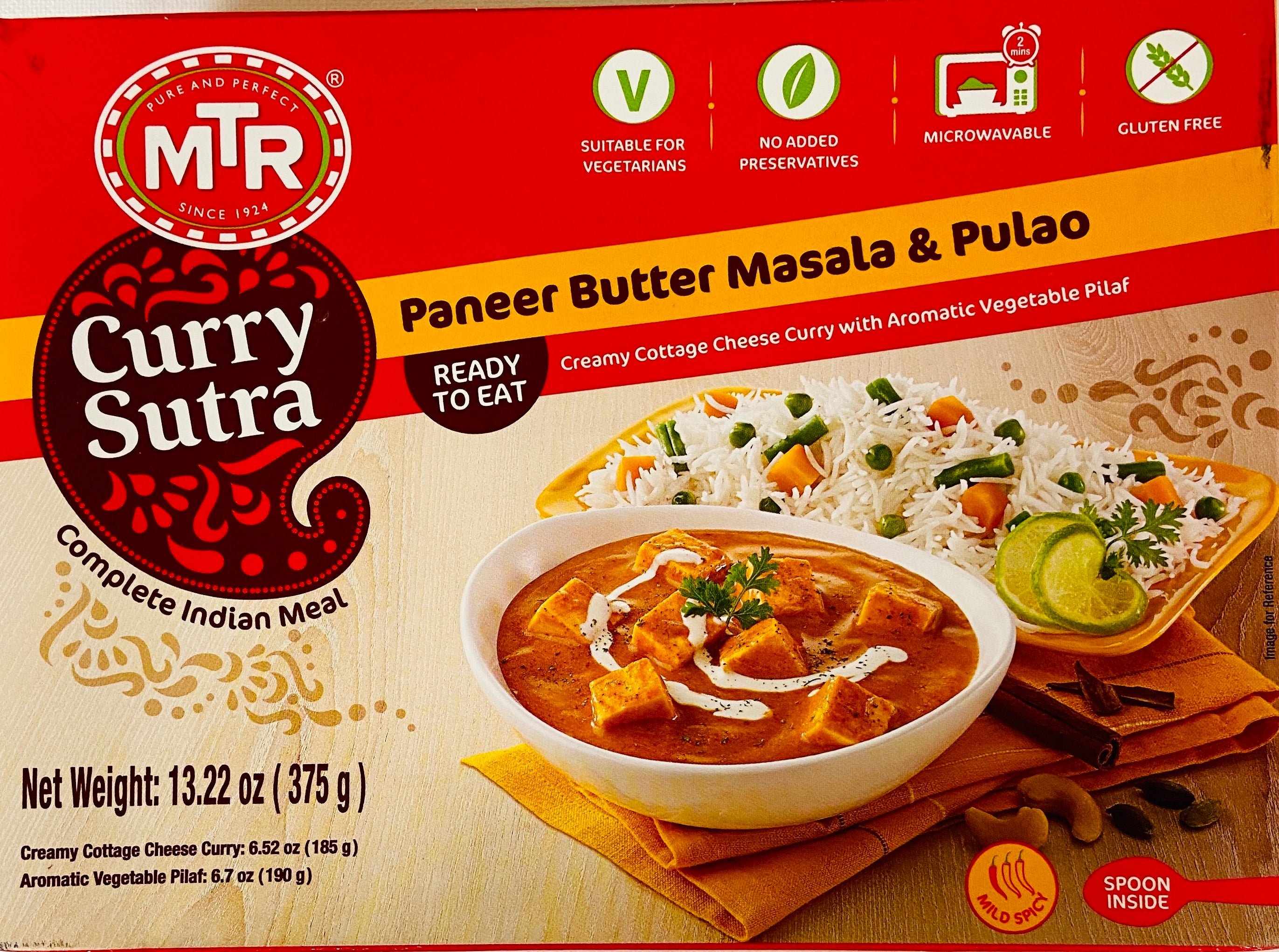 MTR Paneer Butter Masala & Pulao / Curry Sutra (Ready to Eat)