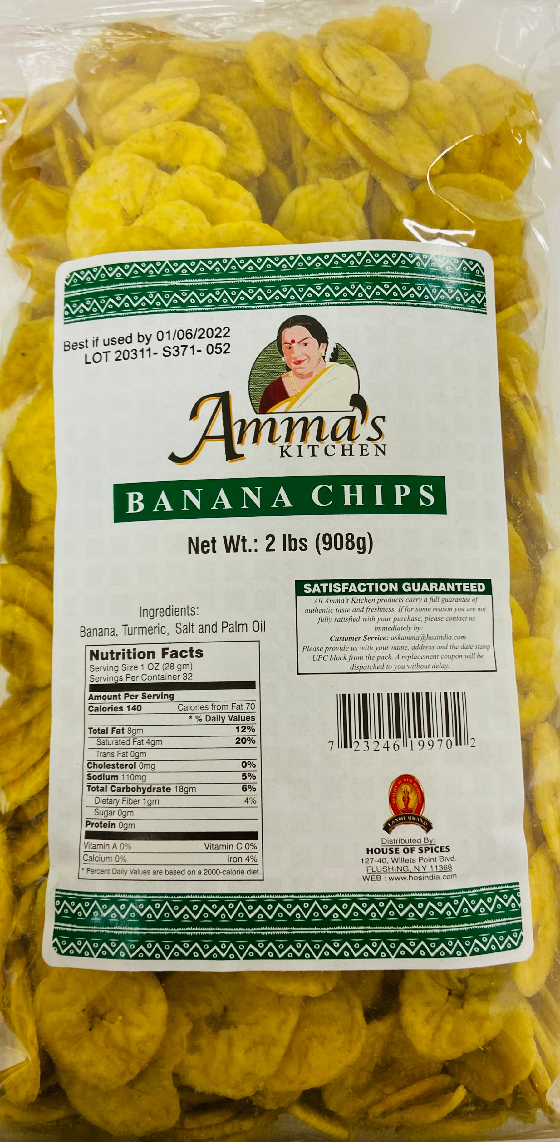 Amma's Banana Chips (Value Pack - 2 lbs)