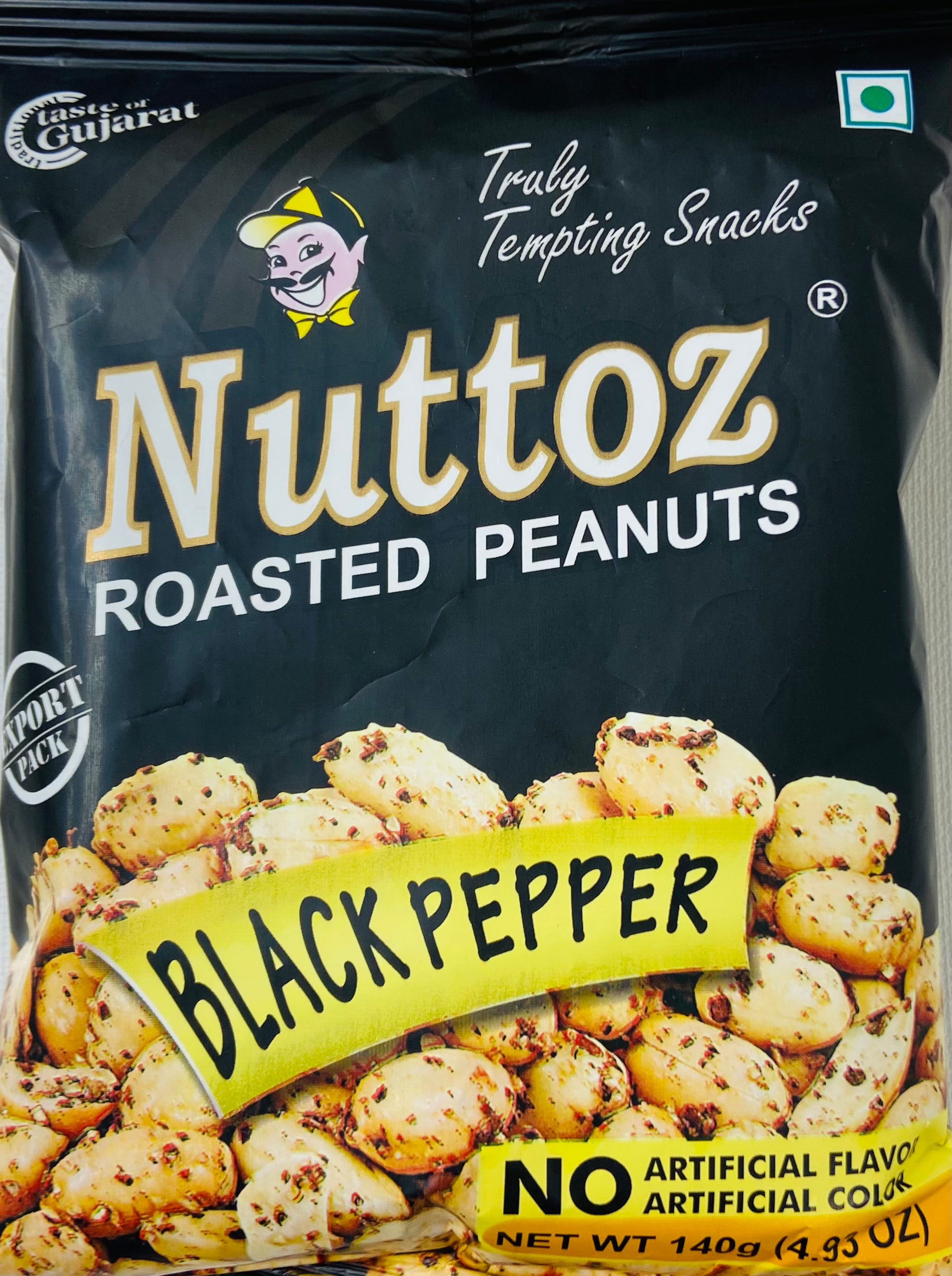 Nuttoz Roasted Peanuts (Black Pepper / 140 g)