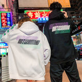 Men Hip Hop Hoodie Sweatshirt Drunk Illusion Chinese Character Hoodie Streetwear Casual Black Hooded Pullover Cotton Autumn 2020