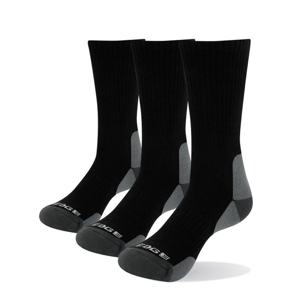 YUEDGE Men High Quality Combed Cotton Terry Cushion Crew Socks Casual Sports Trekking Hiking Socks 3 Pairs Lot 38-45 EU