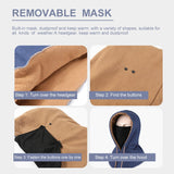 Winter Super Warm Cycling Face Mask Scarf Windproof Ski Cap Thermal Fleece Training Mask Snowboard Shield Hat Skating Bike Mask
