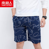 NANJIREN 2020 Summer Shorts Men Monkey Brand Breathable Male Casual Shorts Comfortable Plus Size Fitness Man Beach Shorts