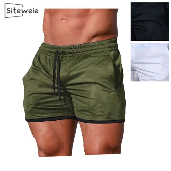 SITEWEIE New Fashion Men Shorts Trousers Cotton Bodybuilding Sweatpants Fitness Short Jogger Casual Gyms Men Shorts L171