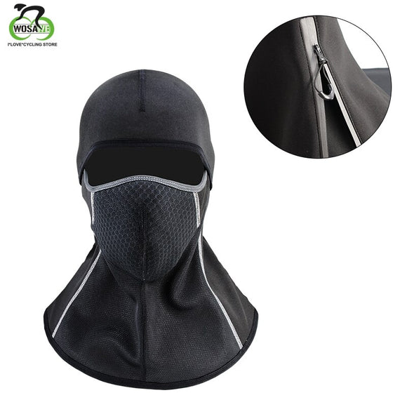 WOSAWE Winter Cycling Cap Fleece Thermal Keep Warm Windproof Cycling Face Mask Balaclava Skiing Fishing Skating Hat Headwear